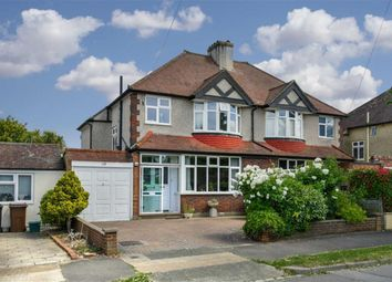 Thumbnail 3 bed semi-detached house for sale in Woodstone Avenue, Stoneleigh, Surrey
