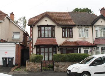 Thumbnail 3 bed semi-detached house to rent in Upper Grosvenor Road, Handsworth, Birmingham