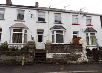 Thumbnail 3 bed terraced house for sale in Station Row, Pontyrhyl, Bridgend.