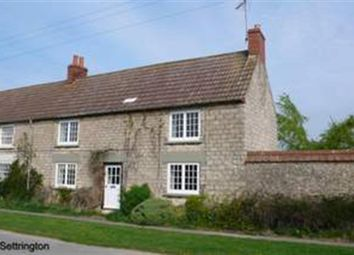 Thumbnail 2 bed semi-detached house to rent in Town Street, Settrington, Malton