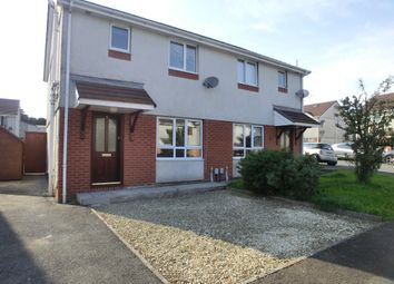 Thumbnail 3 bed semi-detached house to rent in Clos Cenawon, Cwmrhydyceirw, Swansea