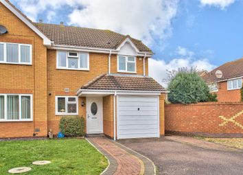 Thumbnail 3 bed semi-detached house for sale in Tipcat Close, Elstow, Bedford