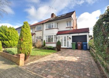 Thumbnail 4 bed semi-detached house to rent in Hill Road, Pinner, Middlesex