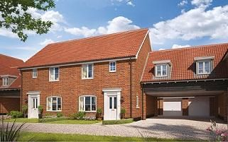 Thumbnail 3 bed terraced house for sale in Butterfield Meadow, Hunstanston, Norfolk