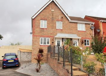 Thumbnail 3 bed semi-detached house for sale in Heol Barcud, Birchgorve, Swansea