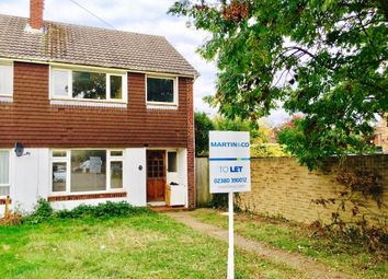 Thumbnail 3 bedroom end terrace house to rent in Claudeen Close, Southampton