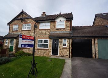Thumbnail 3 bed semi-detached house to rent in Roman Way, Clitheroe