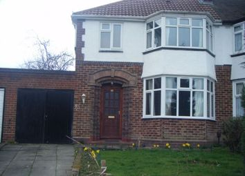 Thumbnail 3 bed semi-detached house to rent in Denewood Ave, Handsworth Wood, Birmingham, West Midlands