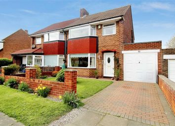 Thumbnail 3 bed semi-detached house for sale in Sandringham Drive, Whitley Bay