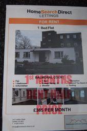 Thumbnail 1 bed flat to rent in Balmoral Court, Carlisle