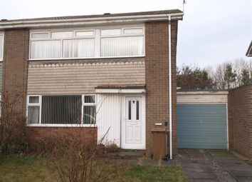 Thumbnail 3 bed semi-detached house for sale in Malden Close, Cramlington