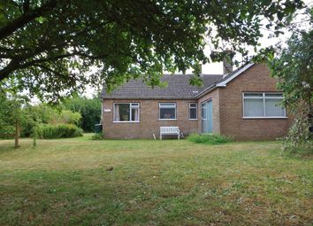 Thumbnail 3 bed detached bungalow for sale in Church Lane, Wicklewood, Wymondham