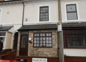 Thumbnail 3 bed terraced house to rent in Newport Road, Balsall Heath