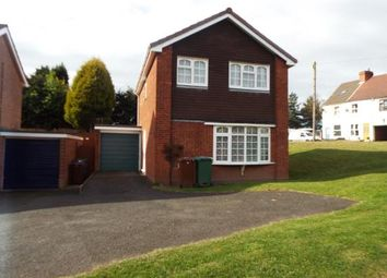 Thumbnail 3 bed detached house for sale in Denbury Close, Cannock, Staffordshire