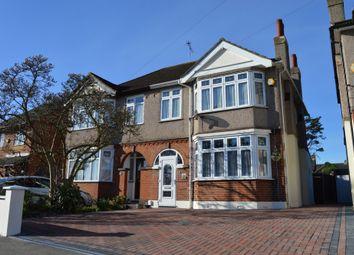 Thumbnail 3 bedroom semi-detached house for sale in Hospital Crescent, Gubbins Lane, Harold Wood, Romford