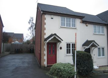 Thumbnail 2 bed semi-detached house to rent in Butts Close, Ilkeston, Derbys.