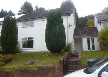 Thumbnail 3 bed semi-detached house to rent in Llwyn-Onn, Cwmtaf, Merthyr Tydfil