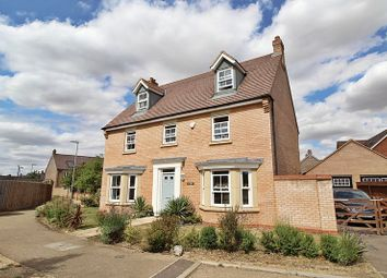 Thumbnail 5 bed detached house for sale in Salcombe Close, Biggleswade
