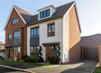 Thumbnail 3 bed semi-detached house for sale in Candy Dene, Ebbsfleet Valley, Swanscombe, Kent