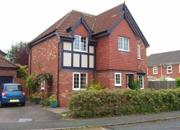Thumbnail 4 bed detached house to rent in White Heart Gardens, Hartford, Northwich