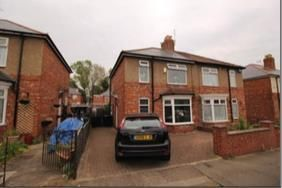 Thumbnail 3 bed semi-detached house for sale in Leyburn Road, Darlington