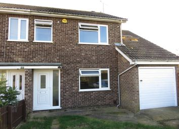 Thumbnail 4 bed semi-detached house for sale in Haveswater Close, Gunthorpe, Peterborough