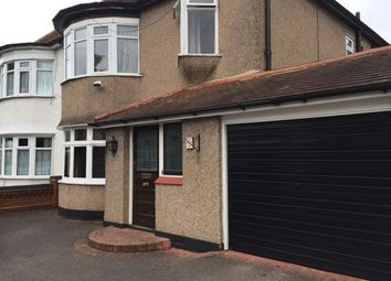 Thumbnail 3 bed property to rent in Osborne Road, Hornchurch