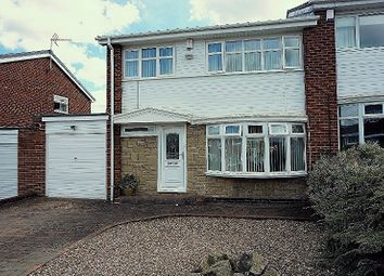 Thumbnail 3 bedroom semi-detached house for sale in Jasmin Avenue, Newcastle Upon Tyne