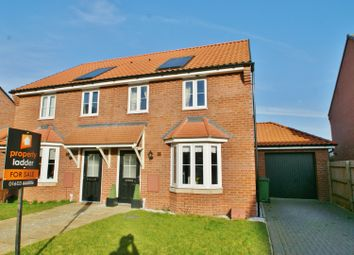 3 bed semi-detached house for sale in Harvey Close, Horsford, Norwich NR10