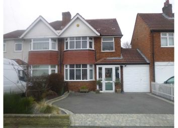 Thumbnail 4 bed semi-detached house for sale in Greyfort Crescent, Solihull