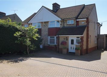 Thumbnail 3 bed semi-detached house for sale in Station Road, Henlow