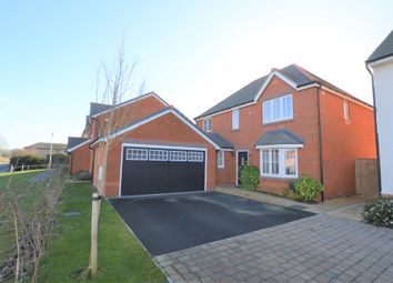 Thumbnail 4 bed detached house for sale in Barton Road, Kings Marsh, Farndon, Chester