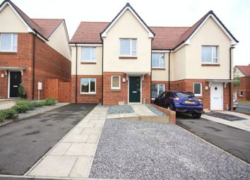 Thumbnail 3 bed semi-detached house for sale in Poppy Close, Darlington
