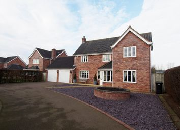 Thumbnail 4 bedroom detached house for sale in Hardingham Road, Hingham, Norwich