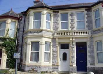 Thumbnail 5 bedroom terraced house to rent in Derry Avenue, Plymouth, Devon