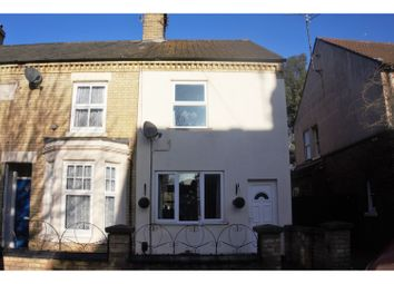 Thumbnail 3 bed end terrace house for sale in Alma Road, Peterborough