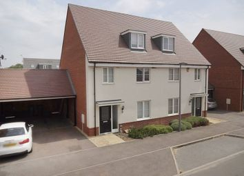 Thumbnail 4 bedroom semi-detached house for sale in Alderney Avenue, Newton Leys, Bletchley, Milton Keynes
