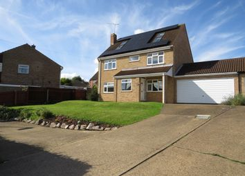 Thumbnail 5 bed link-detached house for sale in West End, Yaxley, Peterborough
