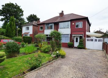 Thumbnail 3 bed semi-detached house for sale in Bramhall Moor Lane, Hazel Grove, Stockport