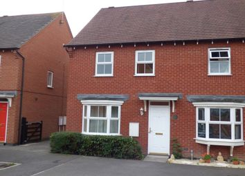 Thumbnail 3 bed semi-detached house to rent in Greenwich Avenue, Church Gresley, Swadlincote