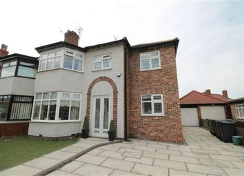 Thumbnail 4 bed semi-detached house for sale in Coronation Drive, Crosby, Liverpool, Merseyside