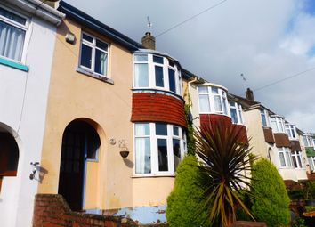 Thumbnail 3 bed terraced house for sale in Chatto Road, Torquay