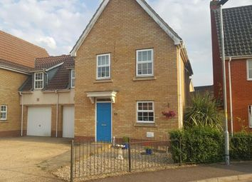Thumbnail 3 bedroom link-detached house for sale in Wymondham, Norfolk