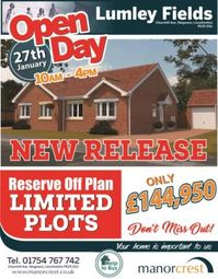 Thumbnail 2 bed bungalow for sale in Lumley Fields, Skegness, Lincolnshire