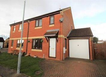 Thumbnail 3 bed semi-detached house for sale in Constable Close, Attleborough