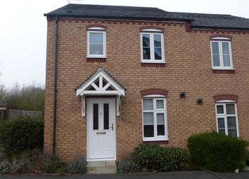 Thumbnail 3 bed end terrace house to rent in Darwin Crescent, Loughborough