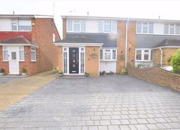 Thumbnail 3 bed semi-detached house for sale in Halt Drive, Linford, Essex