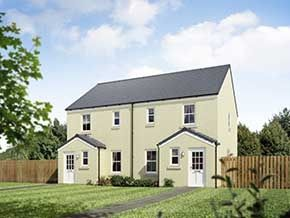 "Thumbnail 3 bedroom end terrace house for sale in ""The Annan 2"" at Stable Gardens, Galashiels"