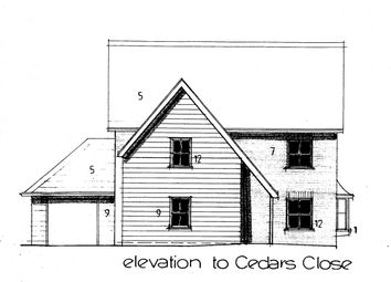 Thumbnail 4 bed detached house for sale in Plot 6, Cedars Close, Ixworth Road, Thurston