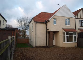 Thumbnail 3 bed semi-detached house to rent in Wroxham Road, Norwich